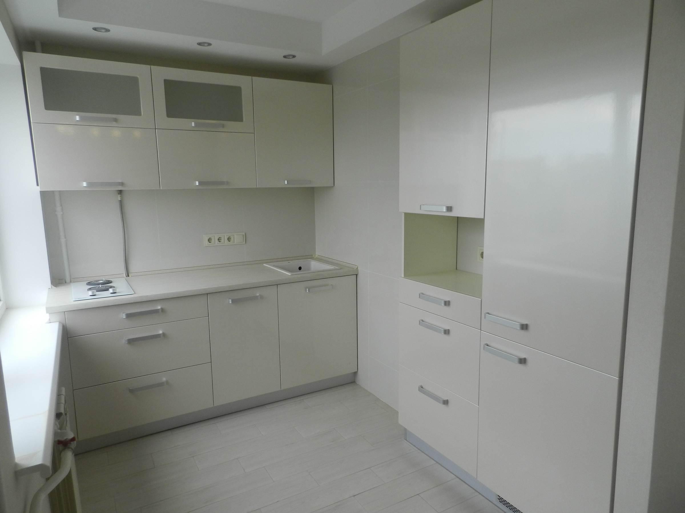 """Кухня """"Белый жемчуг"""" от компании 62 кухни"""