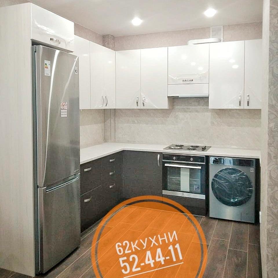 Кухня со встроенной стиральной машиной от компании 62 кухни