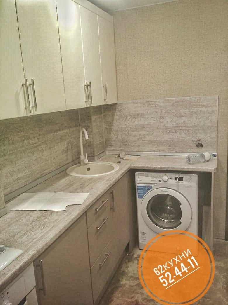 Кухня с местом под стиральную машинку от компании 62 кухни
