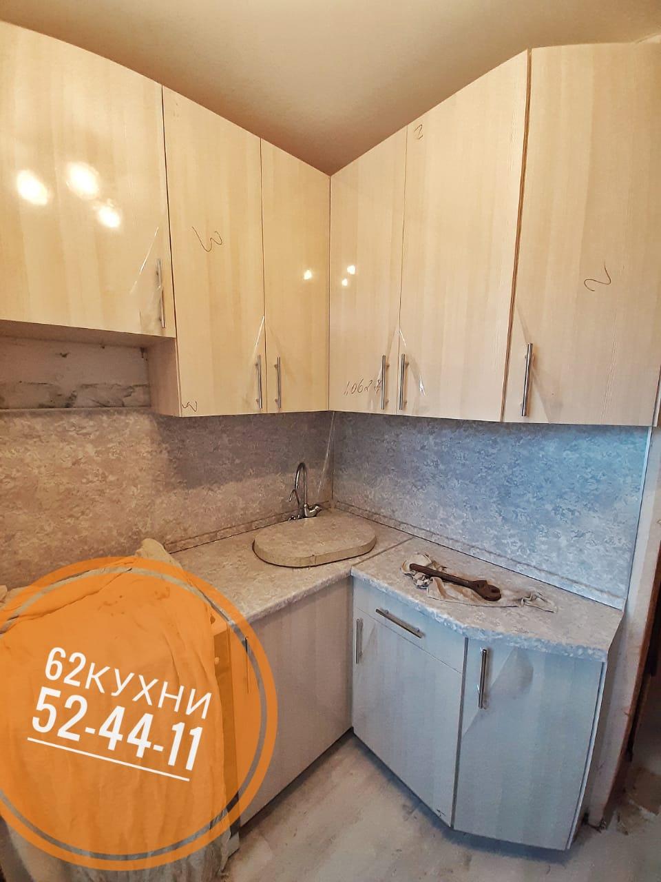 Маленькая угловая кухня от компании 62 кухни