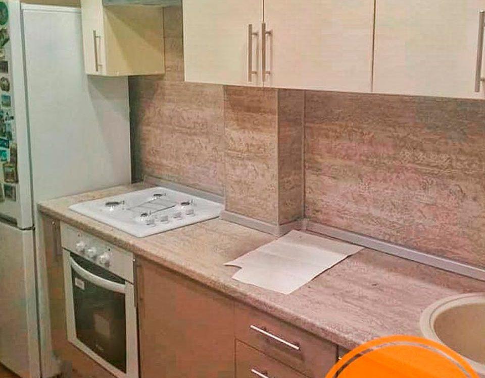 Кухня с местом под стиральную машинку
