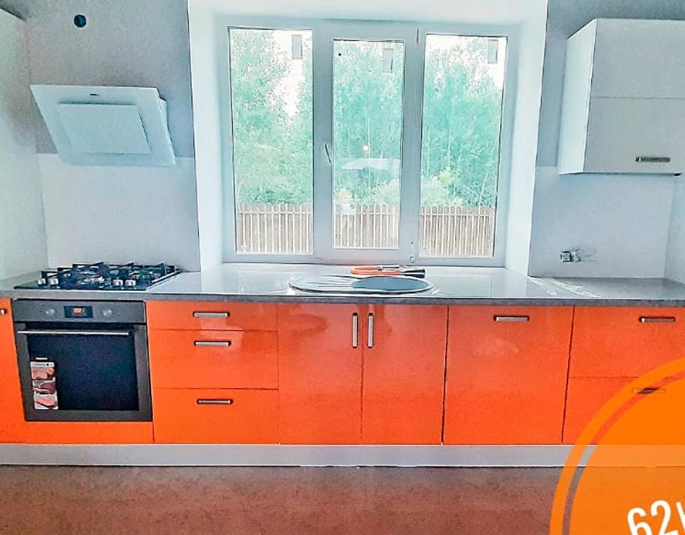 Кухня в наших фирменных цветах от компании 62 кухни